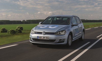 VW Golf BlueMotion front three quarter image