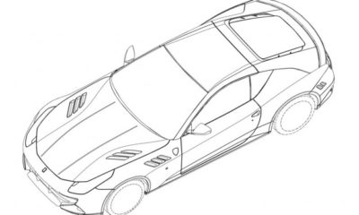 Patent sketches of a mystery Ferrari have hit the web
