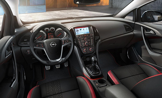 Opel Astra cabin with the new entertainment interface