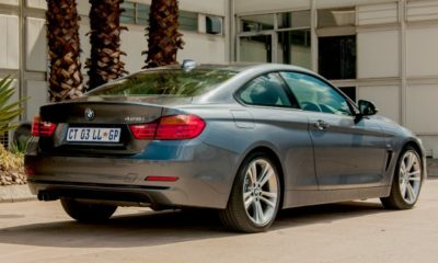 BMW 428i rear three quarter.