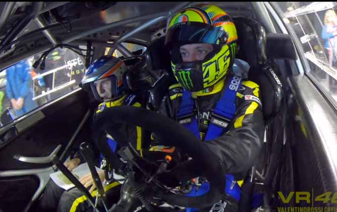 Valentino Rossi Finishes Second In 2013 Monza Rally Show [video]