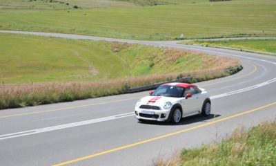 Mini JCW Coupe driving