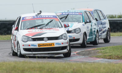 Sheldon van der Linde in his Engen Volkswagen Cup race car