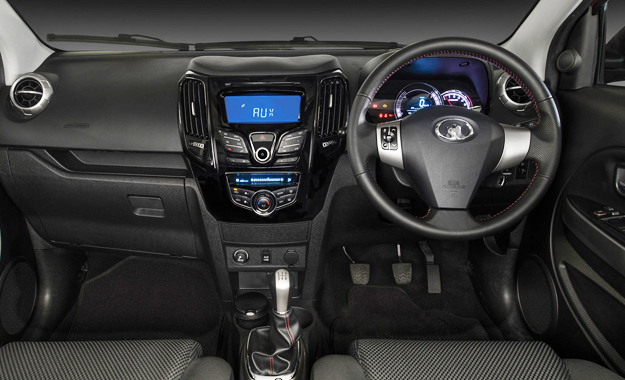 The interior boasts standard features such as a USB and auxiliary socket, electric windows and mirrors and two airbags.