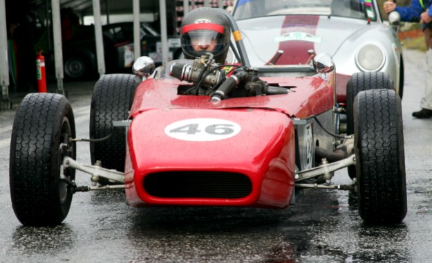 Lew Baker's Mallock lines up at the Simola Hillclimb in 2012.
