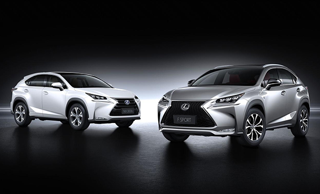 Lexus NX front three-quarter image