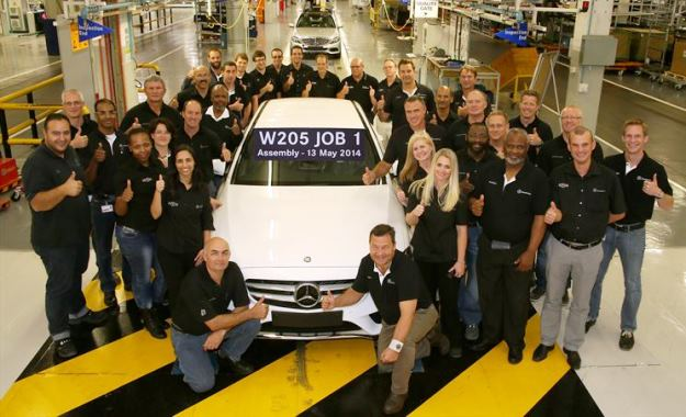 First W205 C-Class off the production line