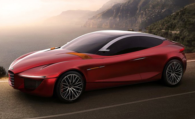 Could the Alfa Romeo Gloria concept preview an 8C successor as part of the 8-model 2018 line-up?