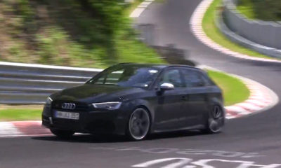 Audi RS3 test mule spotted [w/video]