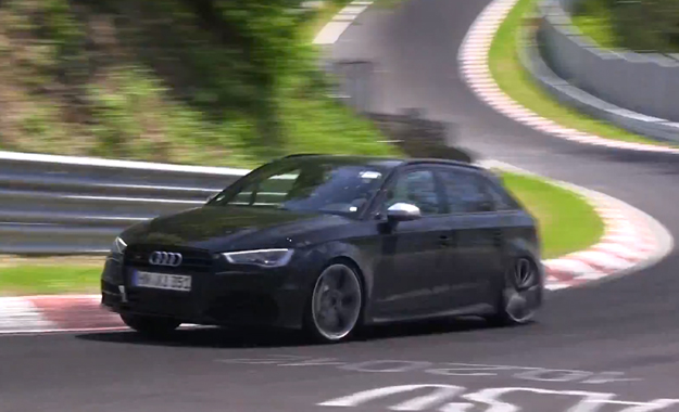 audi rs3 test mule spotted