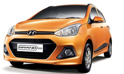 Hyundai Grand i10 front three-quarter image