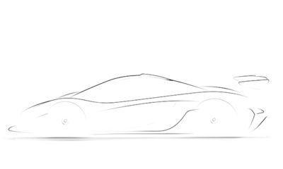 Official Mclaren P1 GTR teaser sketch