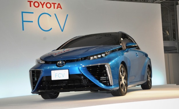 The FCV makes use of Toyota's latest hydrogen technology