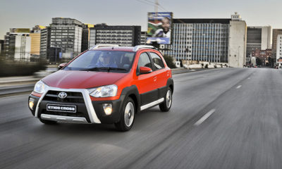 Toyota Etios Cross front three-quarter image