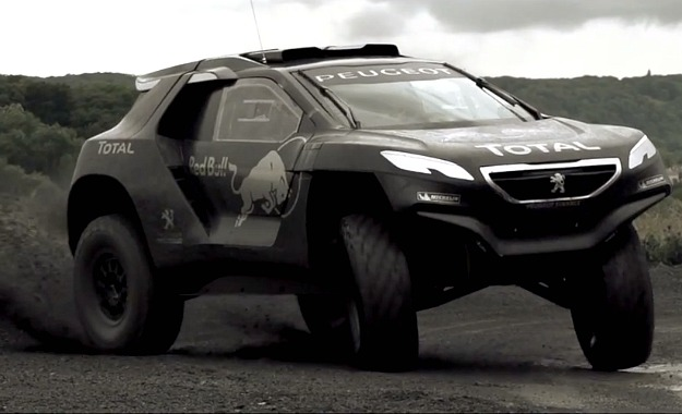 Peugeot's 2008 DKR in action.