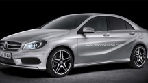 Mercedes-benz A-Class sedan rendering.