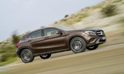 Mercedes Benz GLA looking purposeful