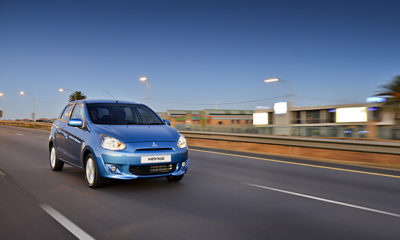Mitsubishi Mirage front three-quarter image