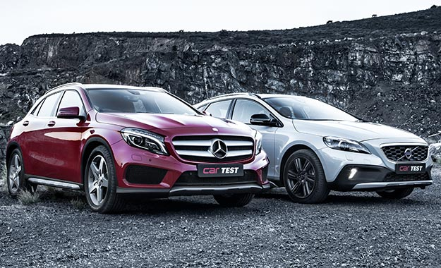 Mercedes-Benz GLA200 CDI 7G-DCT vs. Volvo V40 Cross Country D4 Excel Geartronic
