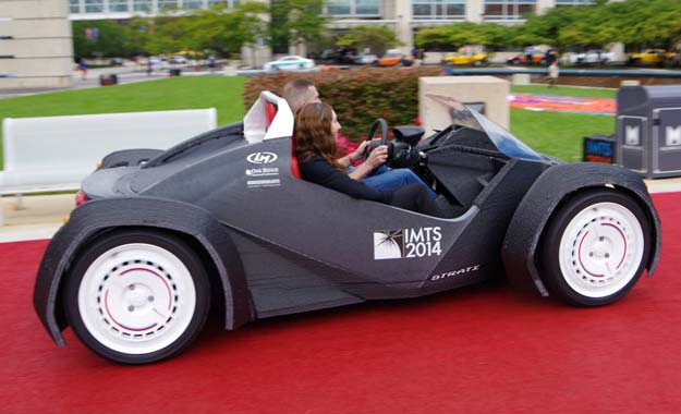 The world's first 3D printed car - Strati