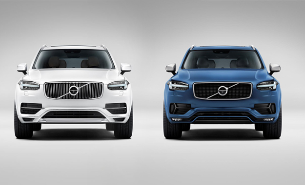Left is the standard XC90, and right the new R-Design model.