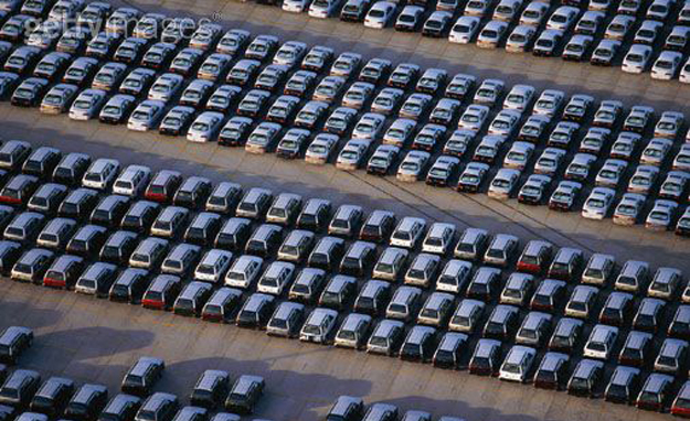 Lots of cars parked image