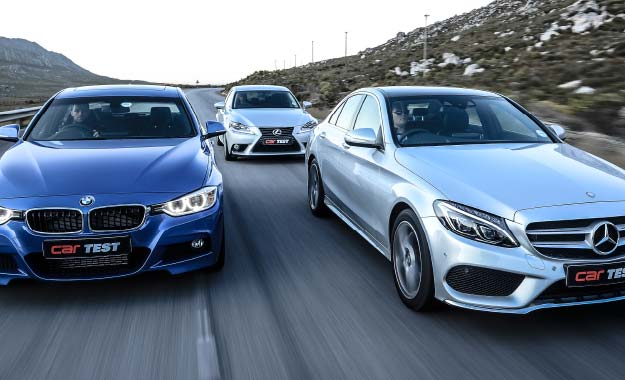 BMW 320i Sports Steptronic vs. Lexus IS350 E vs. Mercedes-Benz C200 7G-tronic