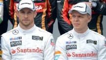 Jenson Button and Kevin Magnussen