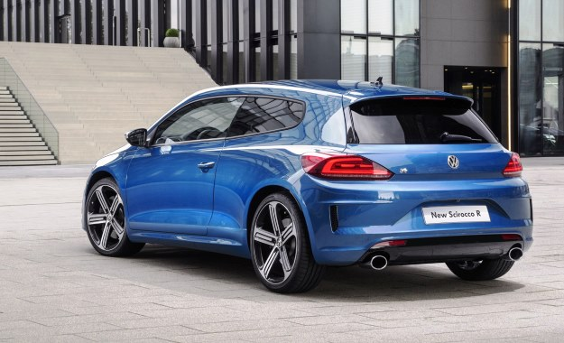 Facelifted VW Scirocco rear