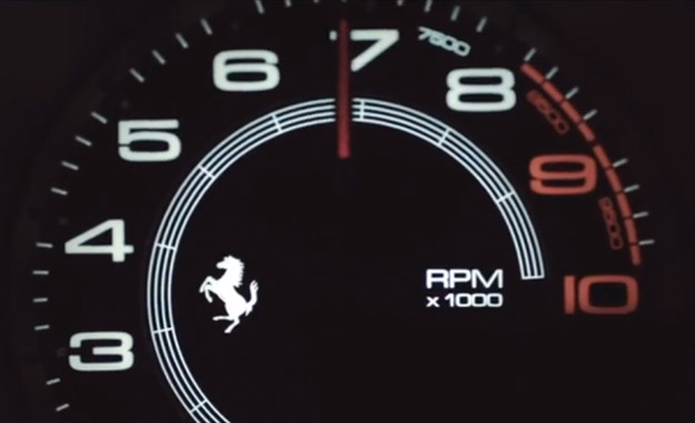 Ferrari 458 M rev counter
