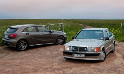 Mercedes-Benz A45 AMG and 190E