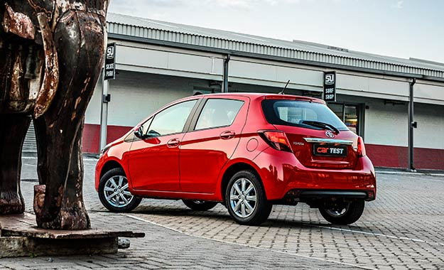 revisions to the rear of the Yaris include revised taillamps and bumper.