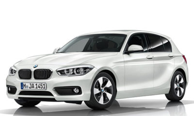 The facelifted BMW 1 Series has slimmer lights, bringing it inline with the design of the 2 Series