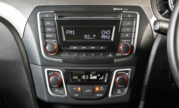 The infotainment and air-conditioning systems.