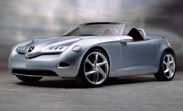 The Mercedes-Benz Vision SLA concept was unveiled in 2000