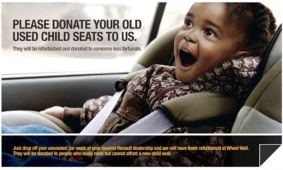 Donate your old car seats