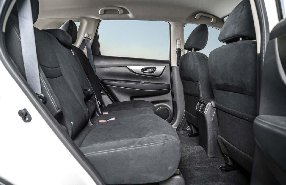 The rear bench is comfy, and legroom class-leading.
