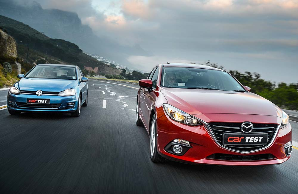 The Golf 7 has sat unopposed at the head of the compact-hatch segment since its launch, but now  it faces its biggest challenger yet - the Mazda3