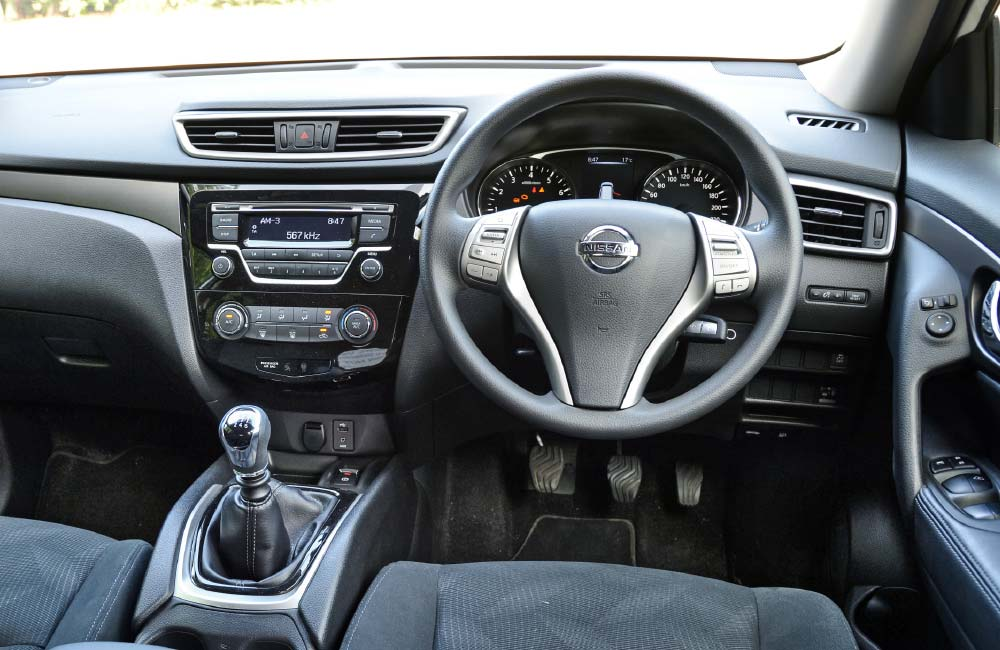 The facia is shared with the Qashqai; layout and quality very good.