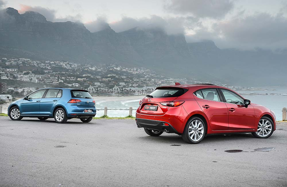 Shod with 18-inch wheels, the Mazda3 looks dynamic and tautly contoured thanks to the company's Kodo design language.