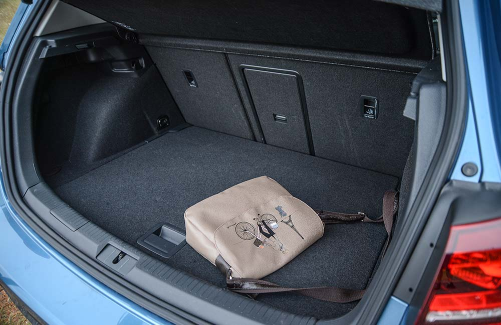 Mazda's boot is slightly bigger, although the Golf has a ski-hatch.