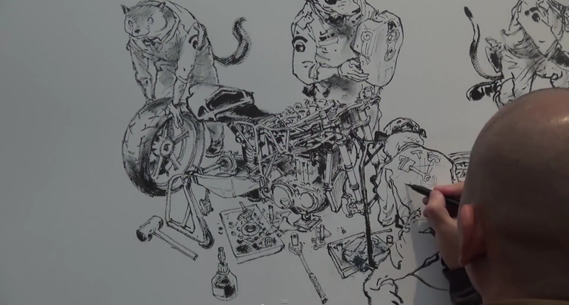 Amazing Freehand Drawing of a Typical Day in the Workshop [Video]