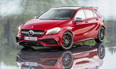 A new mechanical front axle locking differential will supply more traction to the A45 AMG