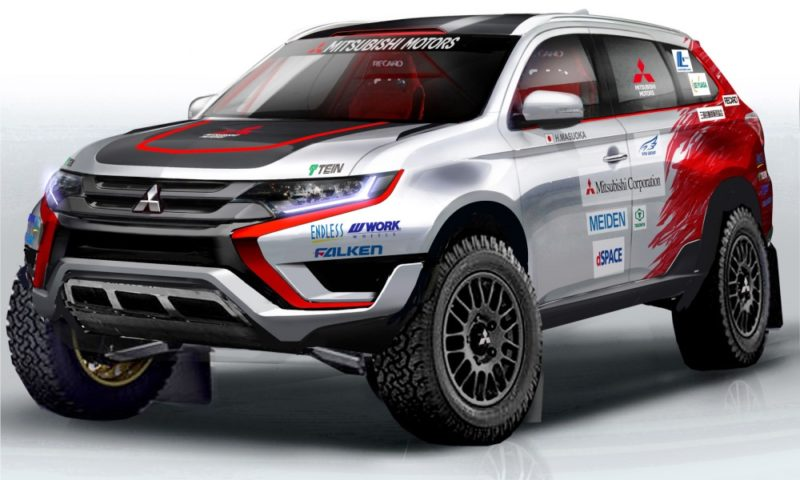 The Mitsubishi Outlander PHEV (pictured) will race in the Baja Portalegre 500 in October, but will it line up at the start of the Dakar Rally in 2016?