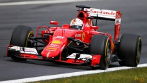 Sebastian Vettel chased after third place after effectively losing it in the pits