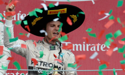 Nico Rosberg overcame the disappointment of losing the race lead in Austin, by winning the Mexican Grand Prix, the first F1 race to be hosted there since 1992.