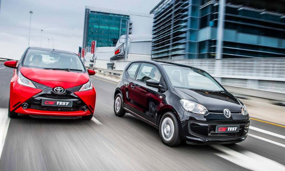 Road Test Toyota Aygo X Play Vs Volkswagen Up 1 0 Take