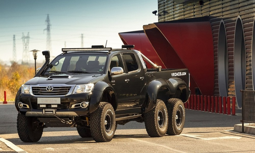 The 6x6 Hilux from Bulgaria
