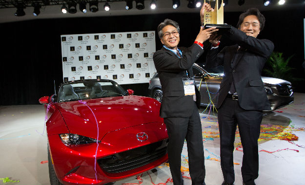 The Mazda MX-5 was named the 2016 World Car of the Year and Design of the Year at the New York Show.