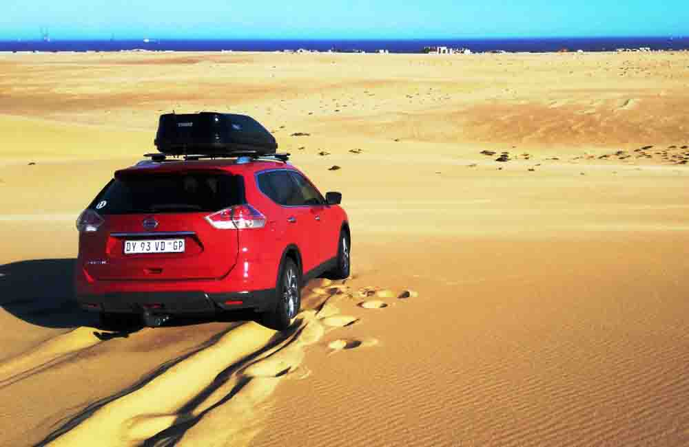 The X-Trail is capable of doing normal, not too challenging sand driving.